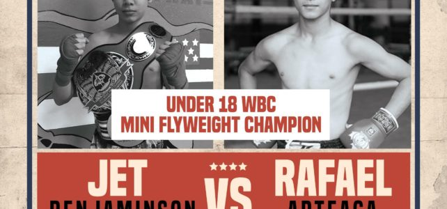 Rafa fights for the WBC Mini Flyweight Junior title April 21!