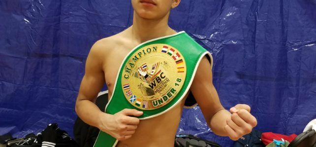 Rafa wins the WBC Jr. Mini-flyweight Amateur Championship!