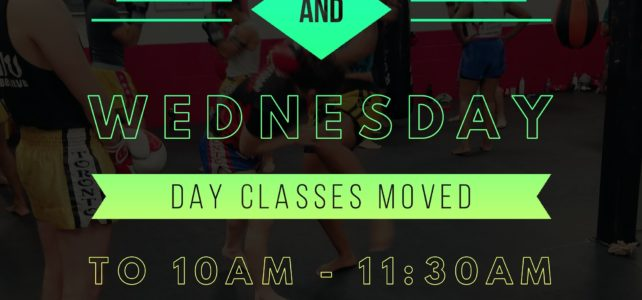 Monday/Wednesday schedule change